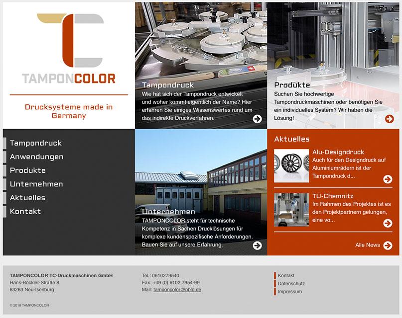 Neue Webseite für Tamponcolor