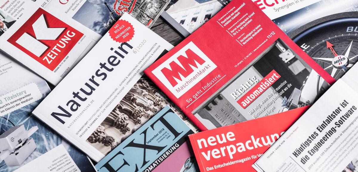 Fachzeitschriften, Werbung Print und Online