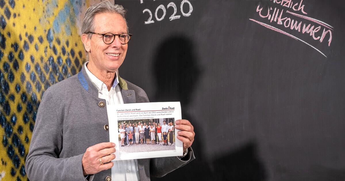Dr. Jan Stefan Roell auf der Pressekonferenz ZwickRoell 2020