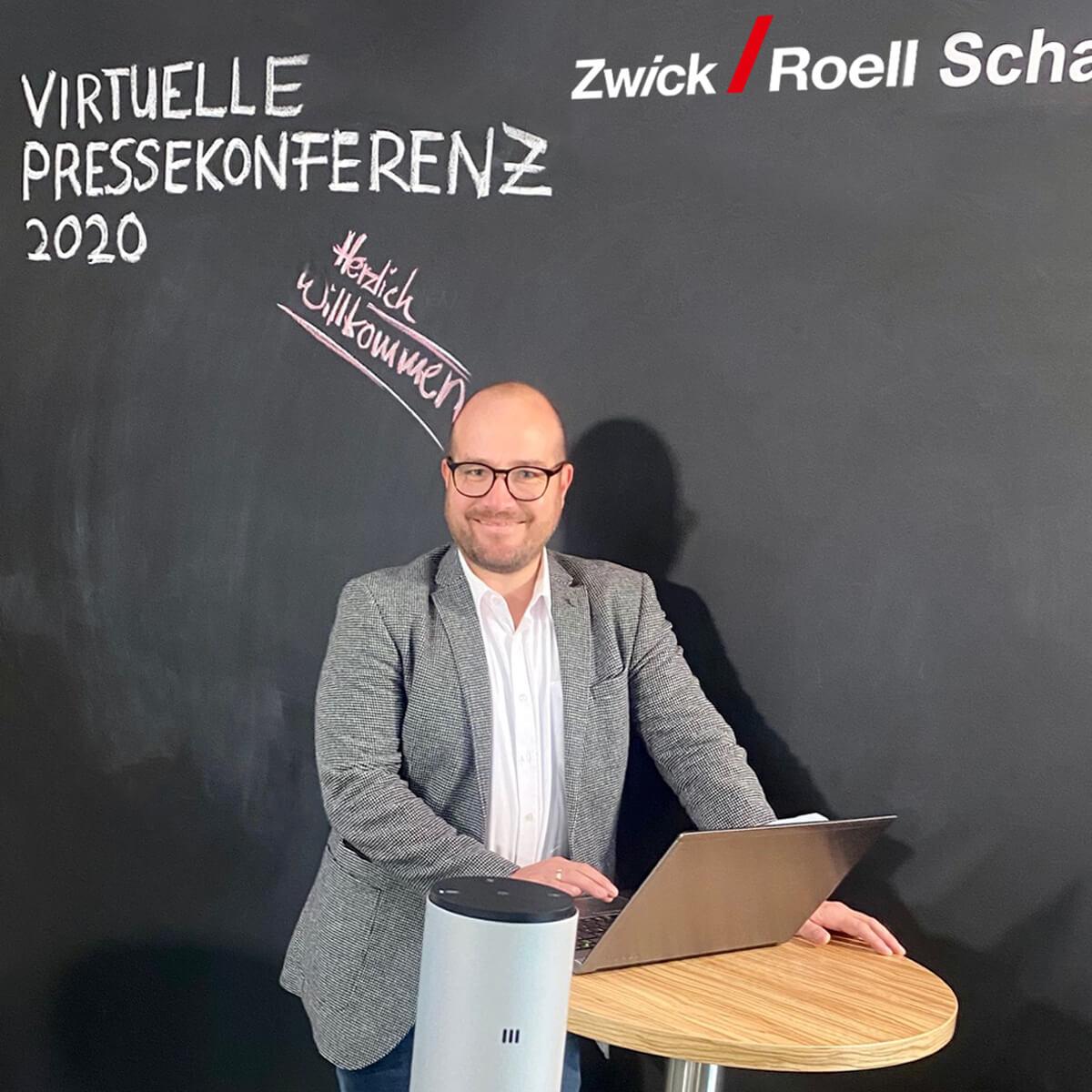 Wolfgang Moersch, Pressekonferenz ZwickRoell 2020