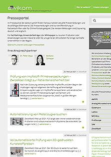 awikom-Presseportal-Webseite